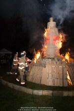 Sadsburyville Fire Company lighting the Fire Tower