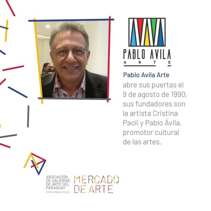 Pablo Ávila Arte Contemporáneo abre sus puertas el 9 de agosto de 1990, sus fundadores son la artista Cristina Paoli y Pablo Ávila, promotor cultural de las artes.