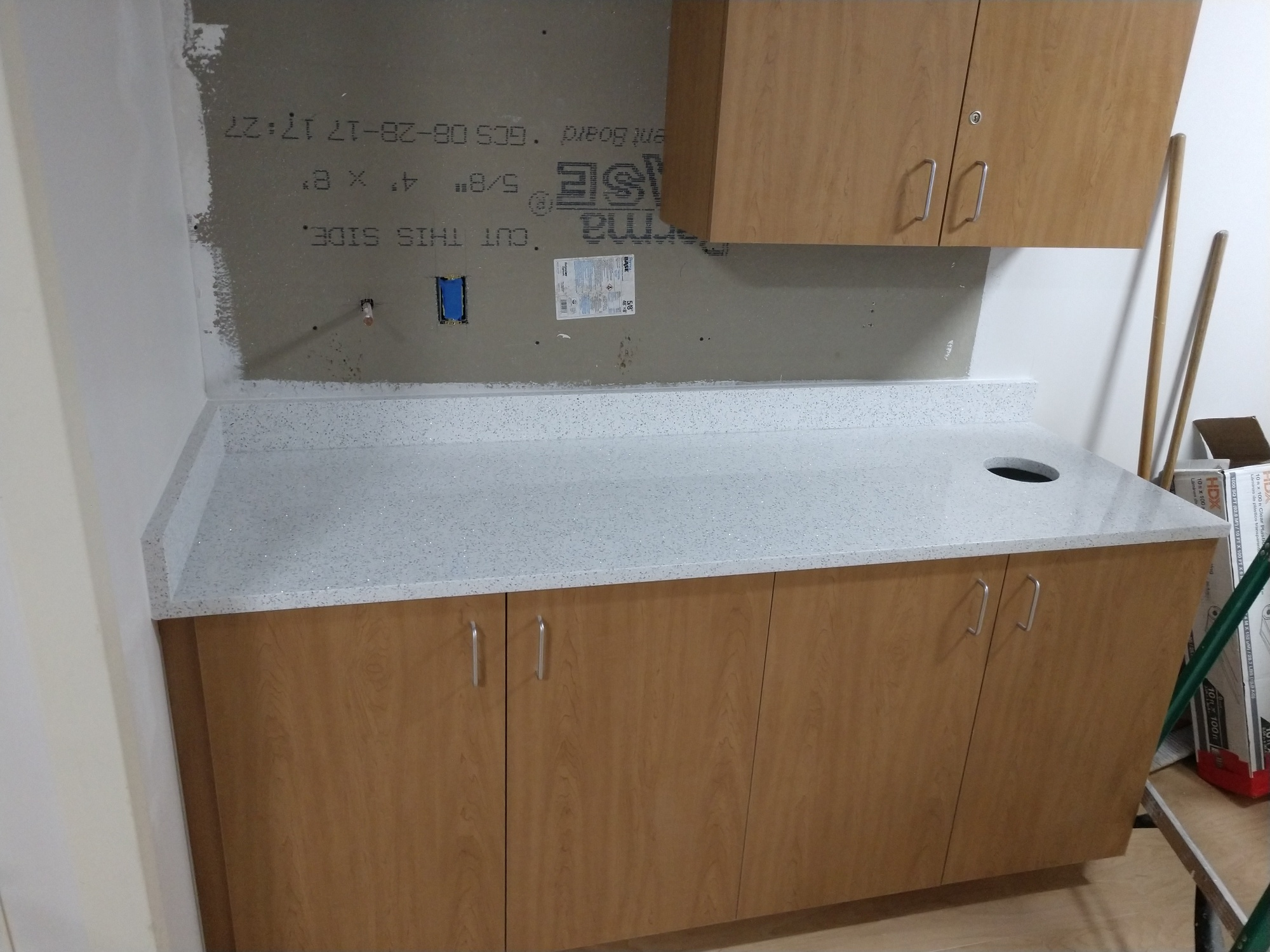 Cambria Whitney Commercial Quartz Slab Countertop Installation In  Clearwater Fl
