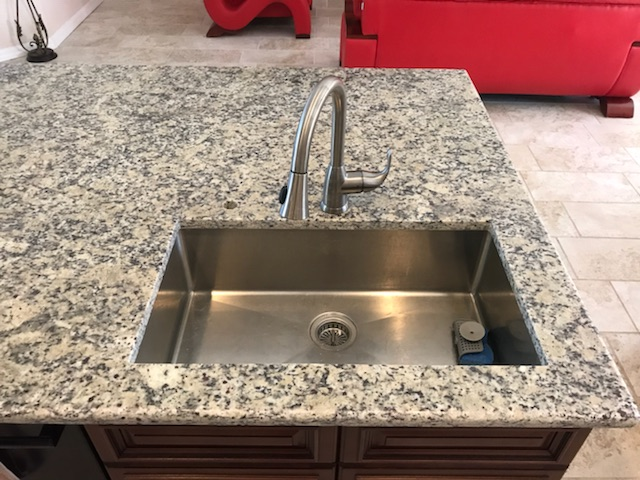 Santa Cecilia Light Granite Kitchen Countertop Remodel In Bradenton Fl