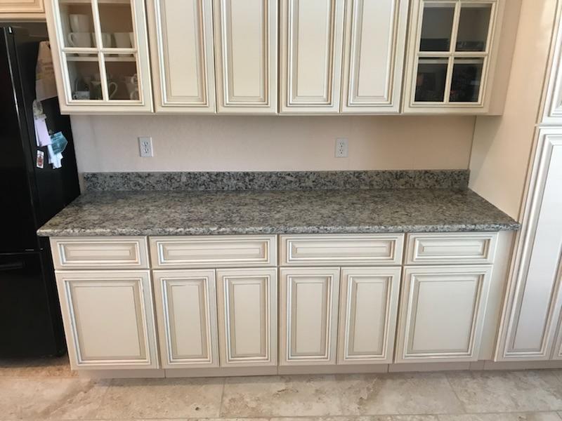 Santa Cecilia Light granite kitchen countertop remodel in Sarasota ...