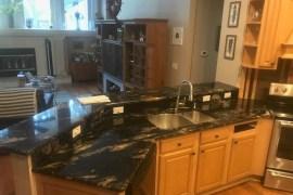 Titanium Gold granite kitchen remodel in Riverview Florida