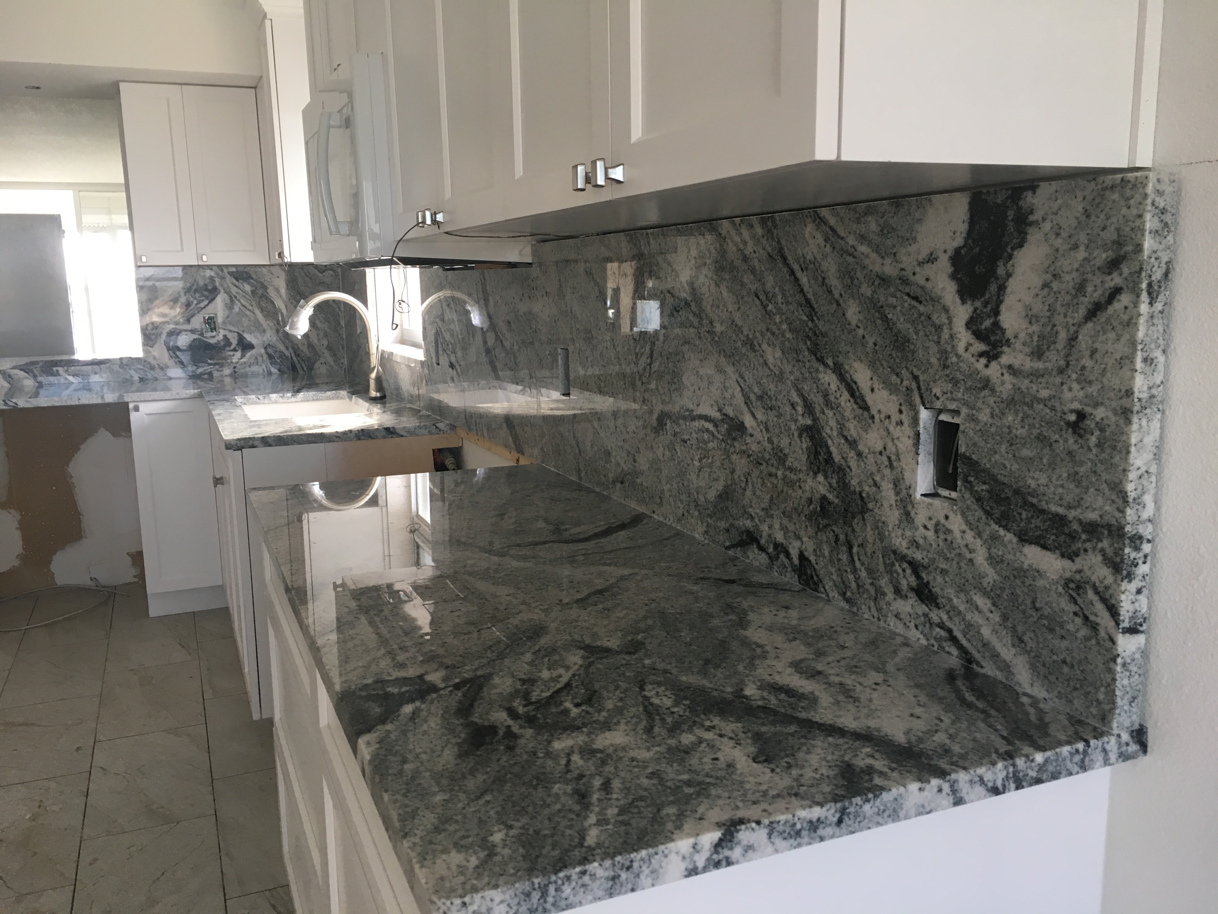Viscount White kitchen granite counter top remodel in Indian Shores