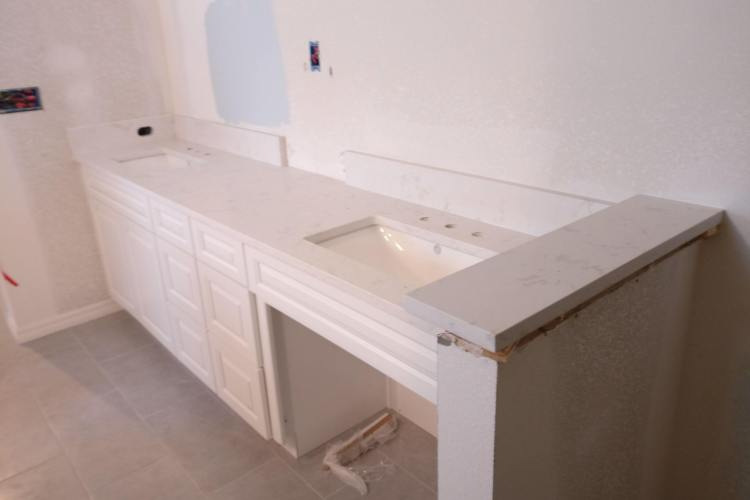 Are quartz countertops good in the bathroom?