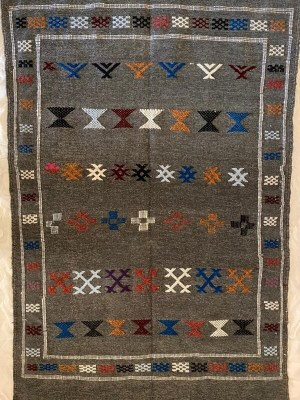 handcrafted Berber rug azilal