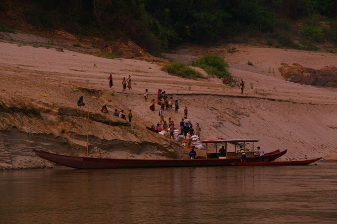 the banks of the mekong