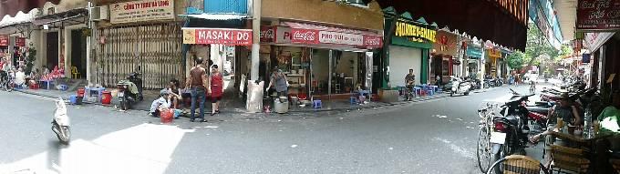 Hanoi Street Panorama