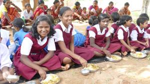 Mädchen im Vivekananda Kinderheim in Kurtumgarh (Foto: C.M.)