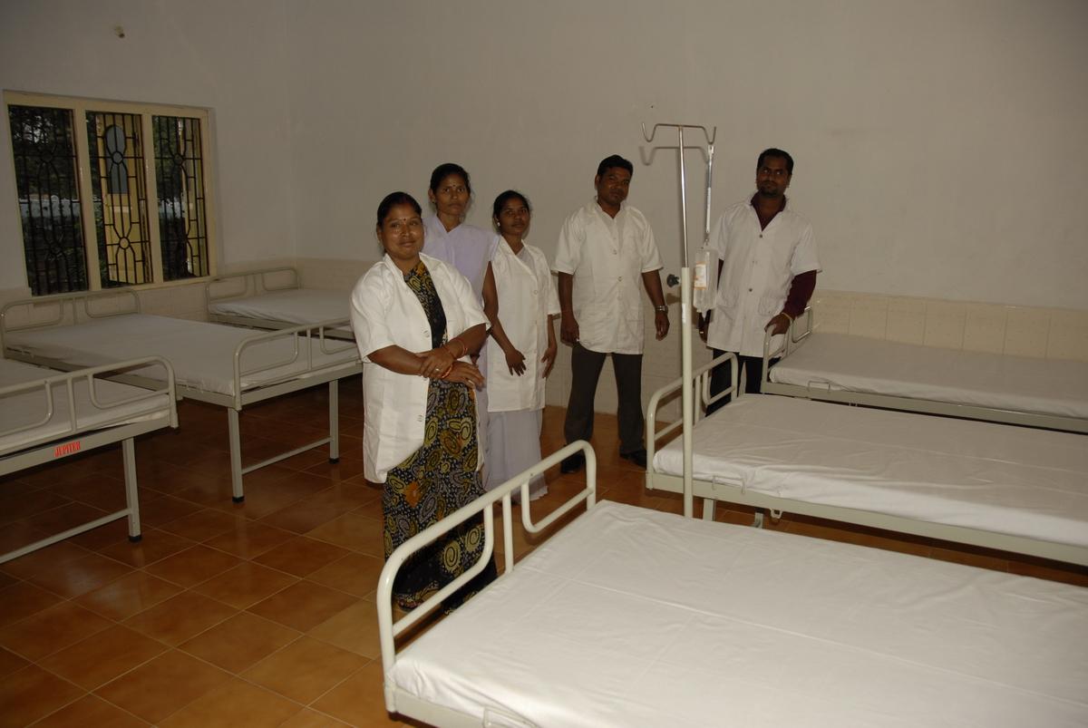 Krankenzimmer im Ashakiran Health Centre vom Förderverein Ashakiran e.V. finanziert (Foto: C.M.)