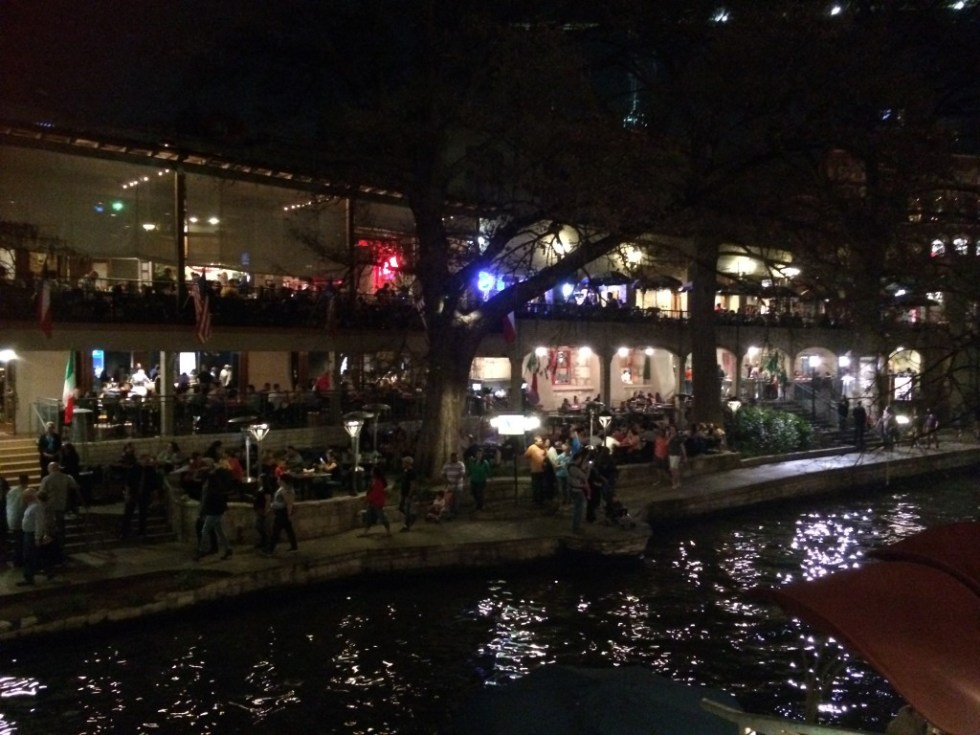Dining on the Riverwalk, San Antonio
