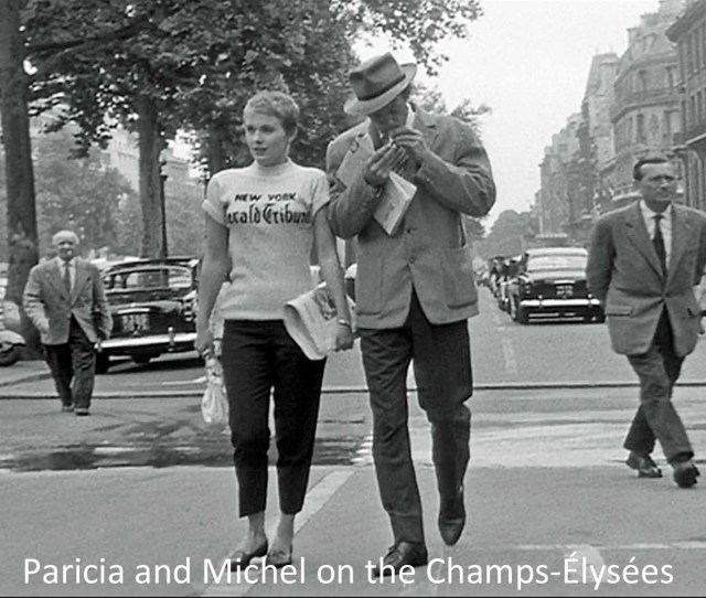 Patricia And Michel On The Champs Elysees