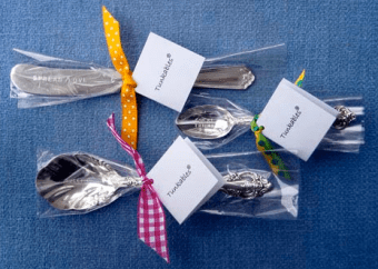 Hostess gifts, monogrammed silverware