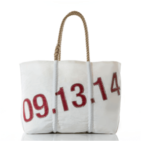 Hostess gifts, personalized sail bag from Ella Vickers