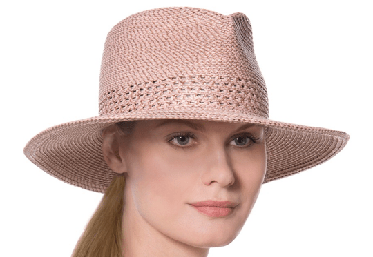 "6c45e0a0acd Eric Javits has many summer straw hats to choose from. We love his ""Squishee""  straw hats which are packable and lightweight. This one has an adjustable  ..."