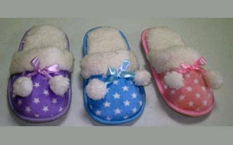 Cozy pair of slippers