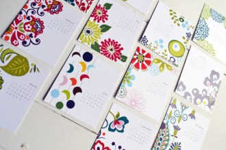 Desk calendar on easel