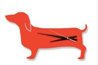 Wall-Clocks---Happy-Hot-Dog-Clock-in-orange
