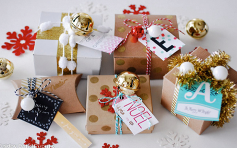We love festively wrapped gifts