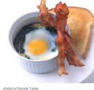 Shirred eggs spinach