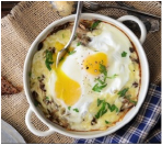 baked cheesy mushroom eggs