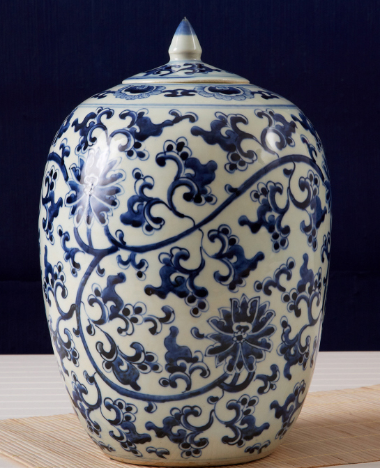 this lotus ginger jar is hand painted with lotus flowers on white porcelain it is 11u201d high x 775u201d diameter a set of 2 is 395