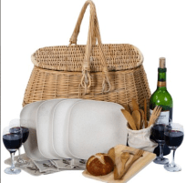 Eco friendly Picnic basket for 4