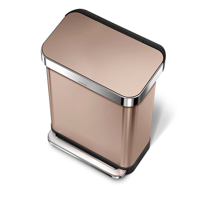 Hi tech Garbage-Bins---Rose-Gold-Step-Can