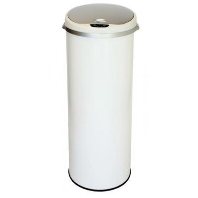 Hi tech Garbage-Bins---White-round-sensor-can