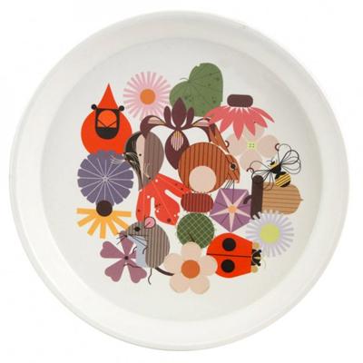 Melamine-Dinnerare---Charley-Harper-melamine-plate