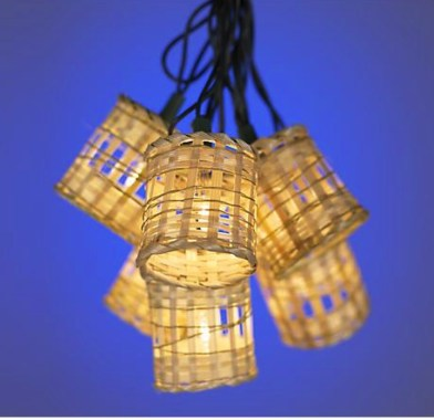 Party String Lights Bamboo Lantern