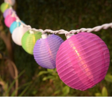 Party String Lights - mini nylon lantern lights
