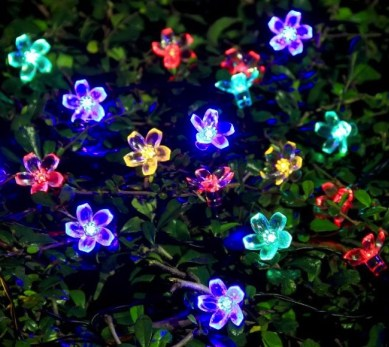 Party String Lights - solar powered flower lights