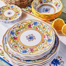 Melamine plates, Italian
