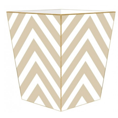 wastebaskets-tan-and-white-chevron
