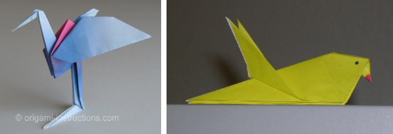 DIY Origami birds for spring