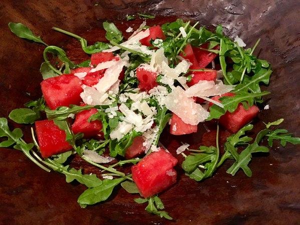 basil mint pesto, watermelon mint salad