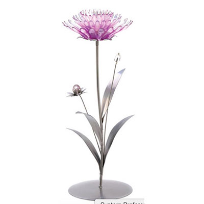 whimsical flower candlestick for summer