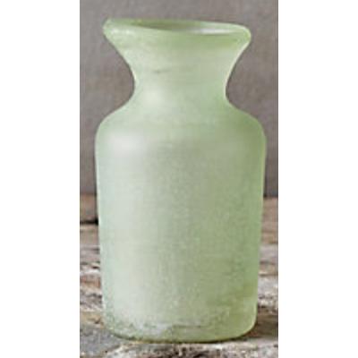 tinted sand blasted bud vase