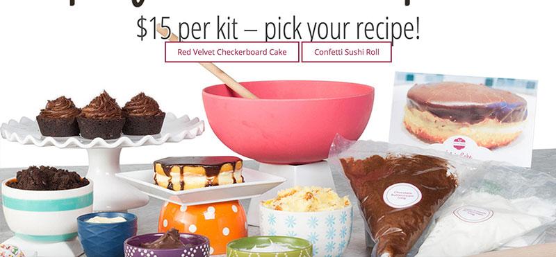Baking kits delivered, Doorstep Dessert