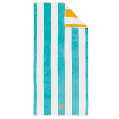 chic beach towel monogramed