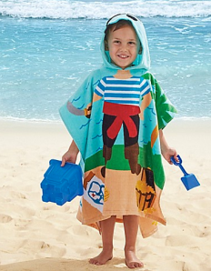 Hooded beach towel for kids