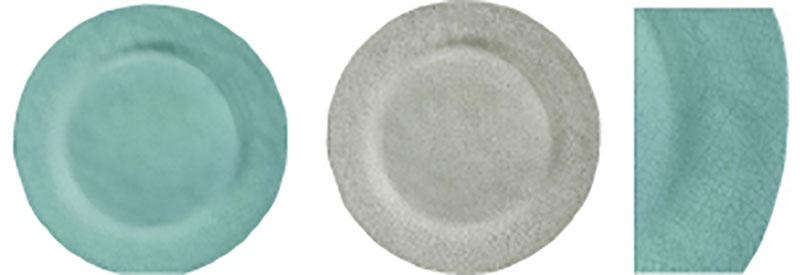 melamine plates crackle finish