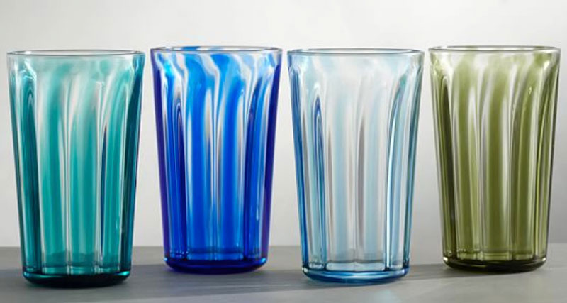 fancy acrylic glasses, colorful tumblers
