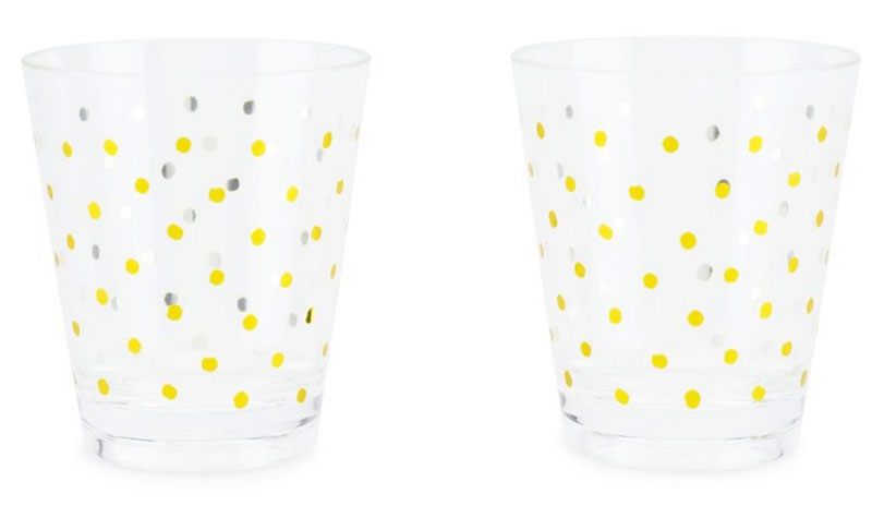 fancy acrylic glasses, Blush, polka dots