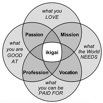 Ikigai - purpose driven life