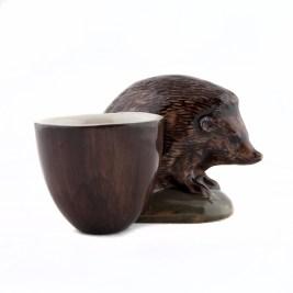 Artisinal Pottery hedgehog egg cup