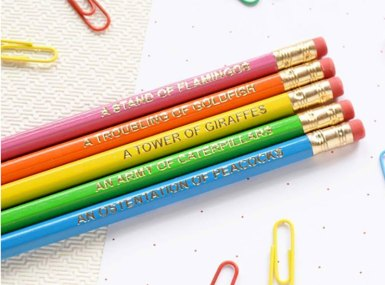 colorful pencil sets stocking stuffer ideas