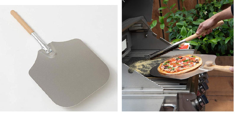 pizza steels on a barbeque