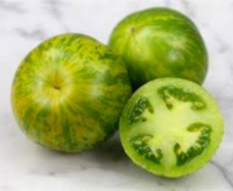 green zebra cultivar tomatoes