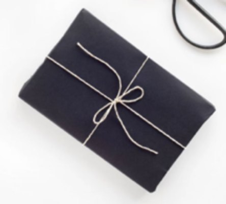 creative wrapping black kraft paper
